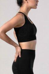Zwarte REVIVE Sportswear REVIVE seamless - Yoga bh - Sportbh VIANE - duurzaam - EU gemaakt