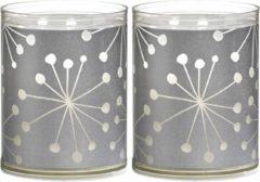 Zilveren Bolsius KBO SPARKLE LIGHT FLOWPACK 2 - CRYSTAL