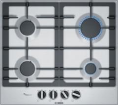 Zilveren Bosch serie 6 pcp6a5b90n gaskookplaten - roestvrijstaal