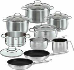 Rösle Keuken Elegance Globe Pannenset - RVS/Glas - Set van 10 Stuks - Zilver/Zwart