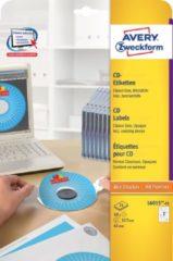 Avery-Zweckform L6015-25 Ã 117 mm Papier Wit 50 stuks Permanent CD-etiketten Inkt, Laser