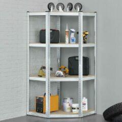 Grijze Merkloos / Sans marque Stellingkast / opbergrek - Corner Easy - 160 x 75 x 75cm