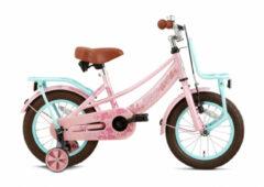 Supersuper Lola Meisjesfiets 14 Inch 21,5 Cm Meisjes V-brakes Turquoise/roze