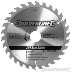 Silverline Tct Spijker Cirkelzaagblad, 30 Tanden (190 X 16 mm - Geen Ringen)