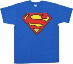 Blauwe DC Comics Superman Classic Logo DC Comics Jongens T-shirt Maat 3XL