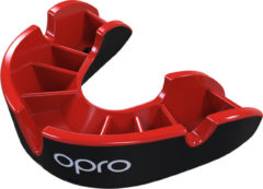 OPRO Gebitsprotectie Unisex Silver Junior - 222300 Zwart/Rood