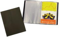 Liderpapel 5 Star showalbum, ft A4, 30 tassen, zwart