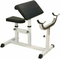 Witte Gorilla Sports Biceps Curlbank Belastbaar tot 200 kg & verstelbaar
