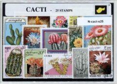 Transparante KLOMP G.T.P Cactussen - postzegelpakket cadeau met 25 verschillende postzegels