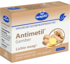 Wapiti Antimetil gember 30 Tabletten