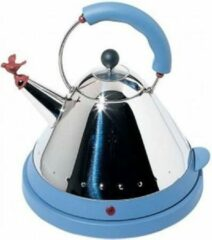 Zilveren Alessi - Electric Water Kettle Blue