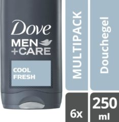 Dove Men + Care Cool Fresh Douchegel - 6 x 250 ml - Voordeelverpakking