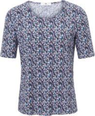 Shirt met ronde hals en korte mouwen Van Peter Hahn multicolour