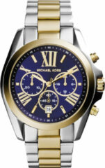 Michael Kors Horloge Bradshaw staal zilver-en goudkleurig MK5976