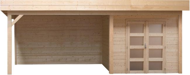 Afbeelding van Woodvision Topvision | Blokhut Parelhoen met zijluifel 300 cm