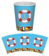Fun & Feest Party Gadgets Marine thema wegwerp bekers 8 stuks