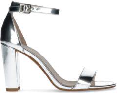 Sacha - Dames - Zilveren sandalen met hak - Maat 41