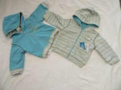 Dirkje , jongens , gilet , blauw of streep , omkeerbaar , 3 maand 62