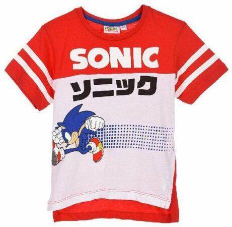 Afbeelding van Sonic The Hedgehog T-shirt - rood - maat 98 (3 jaar)