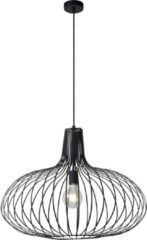 Zwarte Lucide Verstelbare Hanglamp Manuela 1-Lichts Ø65 X H52 Cm - Metaal Zwart
