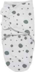 Groene SwaddleMeyco Inbakerdoek - 0-3 maanden - Dots stone green