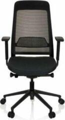 Hjh OFFICE Chiaro T1 Black - Professionele bureaustoel - Zwart - stof / netstof