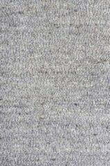 Antraciet-grijze MOMO Rugs - Wool Fine 228 Vloerkleed - 160x230 cm - Rechthoekig - Laagpolig, Structuur Tapijt - Industrieel, Landelijk - Antraciet, Grijs