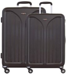 Skyline 3000 HS 4-Rollen Trolley Kofferset 2-tlg. Hardware coffee