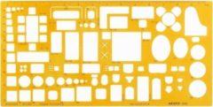 Gele Aristo AR-5063 Architecten Meubelsjabloon Schaal 1:50
