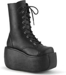 Demonia enkellaars shoes violet zwart