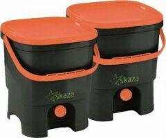 Skaza Compostemmer Organko 26 X 32 X 38 Cm Zwart/oranje 2 Stuks
