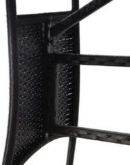 VidaXL Tuintafel 80x80x74 cm poly rattan zwart