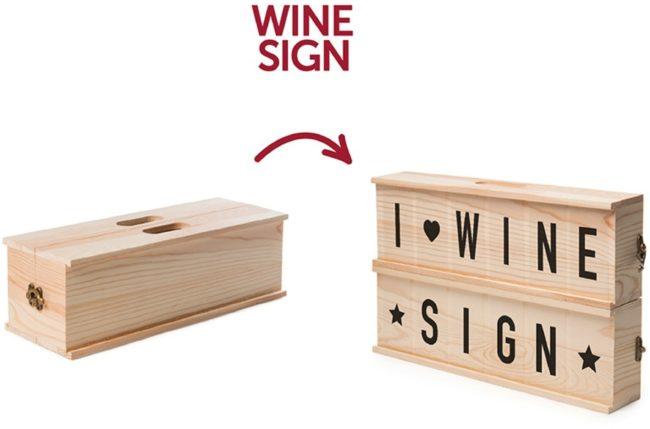 Afbeelding van Rackpack - Wine Sign - letterbox/wijnbox