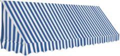 VidaXL Luifel 350x120 cm blauw en wit VDXL 143724