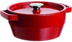 Pyrex Slowcook Braadpan Rond - Gietijzer - 6,3 liter - Rood