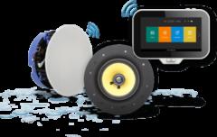 Aquasound N-Joy Music Center met controller 70W, wandhouder met laadfunctie en Move speakerset, wit