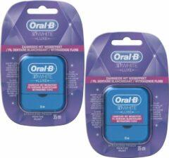 Oral-B 3D White - 35 m - Flosdraad - 2 Stuks Voordeelverpakking