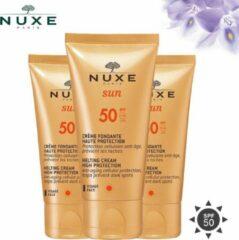 Nuxe Sun Melting Cream High Protection SPF50 Zonnebrandcrème - 3 x 50 ml