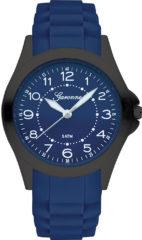 Garonne KQ32Q466 kinderhorloge staal/rubber zwart-blauw 34 mm