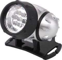 Quani LED Hoofdlamp - Igna Heady - Waterdicht - 20 Meter - Kantelbaar - 7 LED's - 0.54W - Zilver | Vervangt 6W