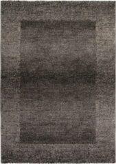 Antraciet-grijze Decor24-OB Modern laagpolig vloerkleed Acapulco - Antraciet - 80x150 cm