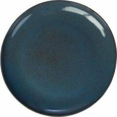 Blauwe Kitchen trend - servies - Schaal rond- stone petrol - set van 2 - rond 35 cm