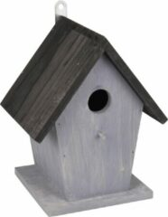 WorldPet Flamingo Nestkastje guus hout grijs + zwart dak 18,5x15x23cm