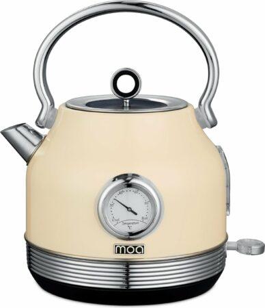 Afbeelding van Creme witte MOA Waterkoker Retro Creme 1,8 liter - Elektrisch - RVS - EK5TC