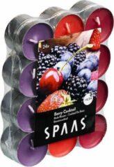 Spaas 24x Geurtheelichtjes Berry Cocktail 4,5 branduren - Geurkaarsen bosvruchten geur - Waxinelichtjes