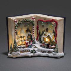 Rode Konstsmide kerstboek kerstverlichting kerststal met 8 liedjes