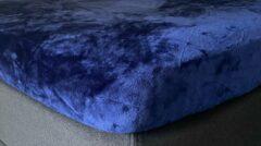 My house Hoeslaken dekbed hoes micro flanel ( met vleug) 80x200 - 90x200 cm kleur indigo blauw super zacht ,anti-allergie,vochtregulerend,ademend,luxe uitstraling,bedlegerigheid voor matras en of topper