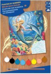 """Schilderen op nummer """"Sequin Art"""" Junior Zeemeermin"""