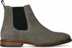 Manfield - Heren - Grijze suède chelsea boots - Maat 42