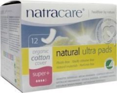 Natracare Maandverband Ultra super plus (1 doos van 12 stuks)
